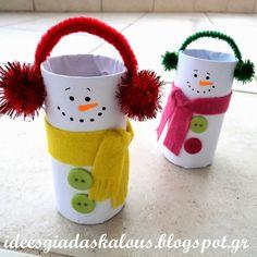 Ιδέες για δασκάλους: Ρολά χιονανθρωπάκια