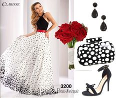 Don't wish, just wear this dress to your prom and feel beyond fine and fabulous ❤️ CLICK HERE: https://www.prom-avenue.com/polkadot-prom-dress-by-clarisse-3200/ #polkadotdress #uniquepromdress #sleevelesspromdress #promavenue #promdress #fabulouspromdress