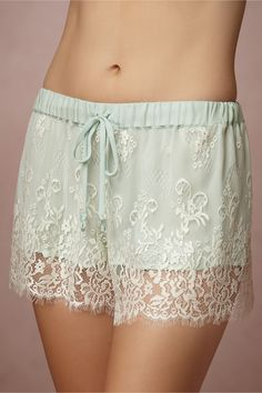 Mint Chiffon Shorts in Gifts Something Blue at BHLDN
