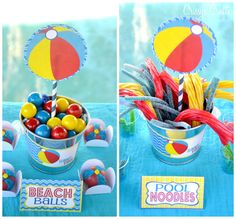 "Pool Party ""beach balls"" & ""Pool noodles"" snacks"