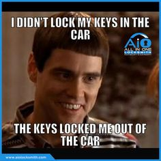 Did your keys ever lock you out of the car? Just give us a call and get your problem solved. - #AllInOneLocksmiths #AutomotiveSecurity #EmergencyLockoutServices