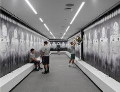 University of Oregon locker room