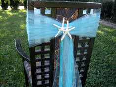 Wedding Beach Themed Chair Sashes 2 pcs by JCBees on Etsy, $31.98