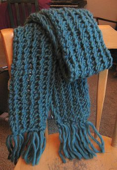 This will be great with chunky yarn and its size 15 needles.