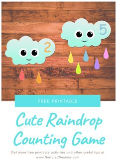 Preschool Weather Printable - Counting Game (free) - Nurtured Neurons
