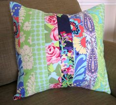 Amy Butler Love Patchwork Quilted Pillow