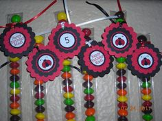 15 Ladybug Candy Treat Bags Favor Tags Toppers by JustTheCuteStuff, $11.95