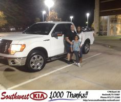 #HappyAnniversary to Monique Ernestina Couch on your 2010 #Ford #F-150 from Don Weintraub at Southwest KIA Rockwall!