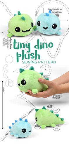 Tiny dinosaur plushie pattern