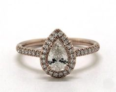 .5ct Pear Halo Engagement Ring in Rose Gold - See it in 360 HD SuperZoom!