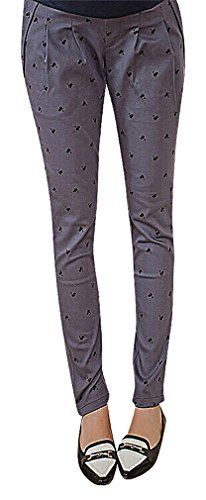 75a6a519019c2 USR Womens Printed Pleated Maternity Secret Fit Belly Long Pencil Trousers  2 10 ManufacturerXXL **
