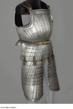 Footman's Pleated Cuirass Circa 1520 With Roped Edges