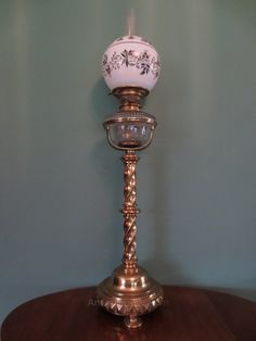 Antiques Atlas - Victorian 19thc Giant Film Star Oil Lamp