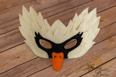 Odette the Swan Mask  This is Odette the delicate and lovely swan. She glides…