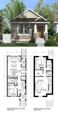 Craftsman Argyle 811. Small House PlansDream ...