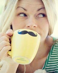 Mustache Mug Tutorial: Here's a DIY moustache mug page. #mustache #diy