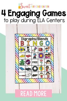 Need a few engaging games to play during ELA center time? These games are great for encouraging students to work as a team, take turns, problem solve, and encourage each other WHILE they practice essential literacy skills. Click the pin to check out these four engaging games to play during ELA centers in your classroom!