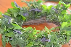 herbal wreath with lavender. Seasonal Mary herbal wreaths