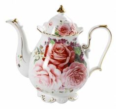 Collectable-Novelty-Teapot-Pink-Rose-China-Tea-Pot-for-collector-FREEPOST
