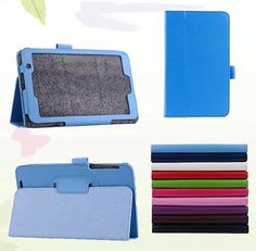 """New 2-Folder Luxury Magnetic Folio Stand Leather Case Protective Cover For ASUS MeMO Pad 7 ME176CX ME176 K013 7"""" Tablet #Affiliate"""