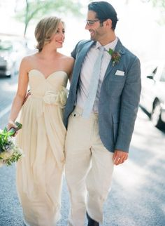 I love that the bride and groom are able to match here!