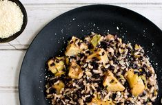 Black Rice and Arborio Risotto With Artichokes: View this and hundreds of other vegetarian recipes in the @The New York Times Eat Well Recipe Finder.