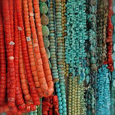 turquoise and coral splendor