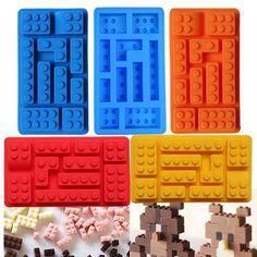 Lego Bricks Shaped Chocolate Silicone Mold Ice Cube Tray Cake Tool Fondant bakery