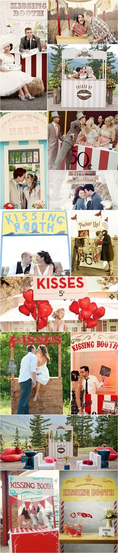 Kissing booth wedding prop... (instead of the typical photo booth!)