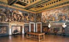 Palazzo Vecchio, Florence  Giorgio Vasari and Cristofano Gherardi decorated the Sala degli Elementi in the Palazzo Vecchio