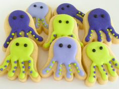 Octopus Mini sugar cookies- 2.5 dozen