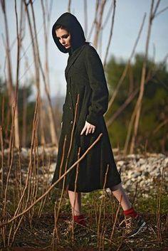 #coat #wool #hood Photographer \ www.penygiannakou... Styling \ Nikos Zanas  Mua \ Dionissia Konstantinou  Hair Stylist \ Eleni Moungouli Model \ Marlen Suzanne Fjeldstad (ACE models)   Coat \ #Ioli Michalopoulou @ #B38  Shoes \ Nike