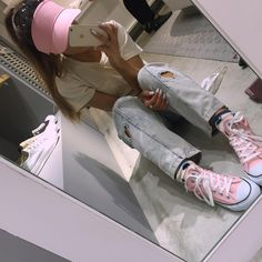 """Ariana Grande on Instagram: """"I AM THE FEMALE TIMMY TURNER. yesterday's purchases in japan ........ (pink visor being my favorite) they kind of all ended up ON me as the day went on p.s. why am I actually @lohanthony here? not Timmy turner at all. #yaslohanthony"""""""