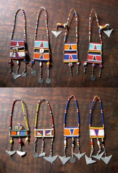 Africa | Massai woman's beaded upper ear ornament. Kenya. | 40 - 50$ per pair.