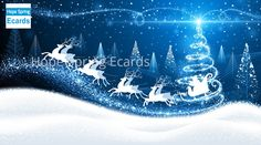 Buy Christmas Background with Santa by -Baks- on GraphicRiver. Christmas card with reindeer and Santa on background of magic trees Merry Christmas Vector, Christmas Images, Christmas Design, Christmas Fun, Vintage Christmas, Reindeer Christmas, Christmas Ecards, Tree Illustration, Scenery Wallpaper