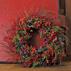 Fall Wreaths...I would love to have this on my front door.