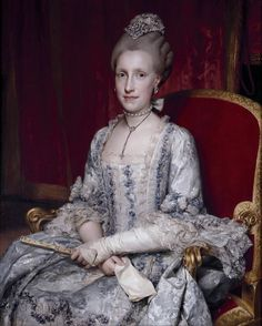 Maria Luisa of Spain, Holy Roman Empress, Archduchess of Austria, Queen of Hungary and Bohemia. Anton Raphael Mengs, 1770.