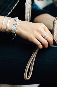 Genuine Leather Chiara Embroidered Bracelet paired with Alice bracelet and Artisan cuffs www.stelladot.co.uk/sheenarobb