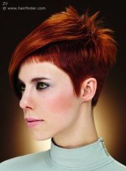 Very short haircut for women. With the hair clipper cut very close to ...