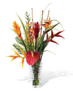 12 best silk flower arrangements images on pinterest silk floral beauty to enhance any space add a splash of vibrant tropical floral color and the lush artificial flower mightylinksfo