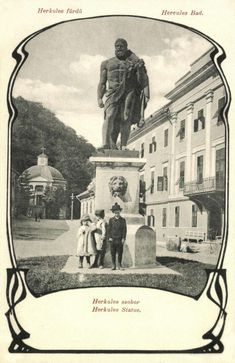 Herkulesfürdő:Herkules szobor,1904. Statue, Homeland, History, Country, Celebrities, Painting, Hercules, Historia, Celebs