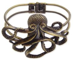 Antique Gold Octopus Bracelet at Steampunk Emporium
