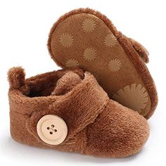 Voberry Baby Boys Girls Infant Moccasins Cute Animal Non-Skid Indoor Kids Floor Slippers Warm Winter Shoes Socks