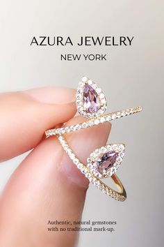 Azura Jewelry provides a collection of beautiful authentic Gemstones jewelry. These Amethyst rings make the perfect everyday ring, a beautiful promise ring for that special someone, or a gorgeous engagement ring! Very minimalist and classy. Our bands are made with 14k Gold Vermeil but are customizable in 10k Solid Gold and 14k Solid Gold. Our team does our best to give our customers premium quality gemstones and provide accessible pricing. Find your gem today! Tanzanite Jewelry, Amethyst Jewelry, Amethyst Gemstone, Gemstone Jewelry, Amethyst Rings, Beautiful Promise Rings, Warrior Ring, Pear Ring, Pink Tourmaline Ring