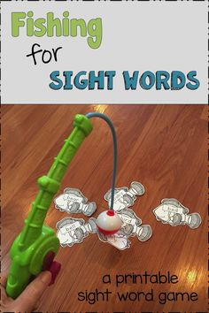 Fising for sight words is a printable sight word game. Includes 315 sight words organized in six lists: preprimer, primer, grade, grade, grade and nouns. Teaching Sight Words, Sight Word Games, Sight Word Activities, Classroom Activities, Teaching Activities, Teaching Ideas, Reading Strategies, Reading Resources, Sight Words Printables