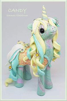 Polymer Clay Unicorn, Filly, Pony https://www.facebook.com/EmmasWerkstatt/