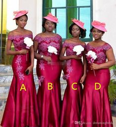 2018 African Nigeria Bridesmaid Dresses Elegant Cap Sleeves Pleats Long Mermaid Country Maid Of Honor Gowns Plus Size Wedding Guest Dress Ebony Rose Bridesmaid Dresses Fuschia Pink Bridesmaid Dresses From Beautyu, $80.91| Dhgate.Com