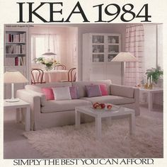 decorations The 1984 IKEA Catalogue cover. 80s Interior Design, 1980s Interior, Interior Decorating, 80s Furniture, Luxury Homes Exterior, Indoor Outdoor, Outdoor Living, Art Deco, Vintage Interiors
