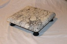 White Ice Granite Cutting Board/Centerpiece via Etsy