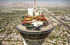 Love the rides up here. In Las Vegas on top of the Stratosphere Tower Hotel, enjoy the rides:)